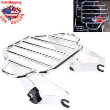 Detachable Two Up 2 up Luggage Rack for Harley Touring Electra King Glide 09-18