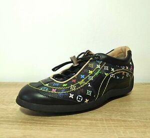 Authentic Louis Vuitton Murakami Monogram Sneakers Black 6.5 Multicolor Trainers