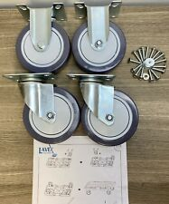 Lavex Janitorial Cart Wheels Casters 125 Mm Set Of 4 Commercial Heavy Duty