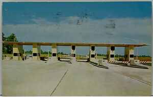 East Point Main Toll Plaza Indiana Toll Road Connecting Ohio Turnpike Postcard