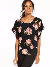 V by Very Ruffle Cuff T Shirt Black Size UK UK 14 LF170 ii 05