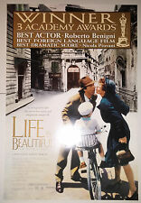 "Life Is Beautiful (1998) original ""Oscar"" one sheet movie poster (27""x40"") S/S"