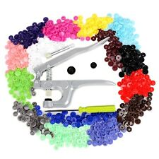 Snap Pliers Button 350pcs T5 Plastic Resin Press Stud Punching Tool Kit UK Sale