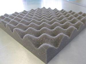 "Acoustic Foam Treatment Tiles 12"" x 12"" self adhesive backed"