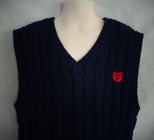 NWT Ralph Lauren Chaps Blue Red Emblem Sweater Vest Boy's  18-20
