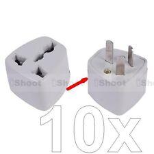 10x US UK United Kingdom EU-AU Australia NZ Power Plug Adapter Travel Converter