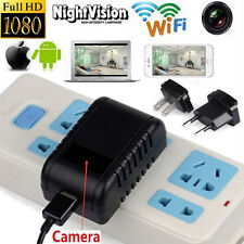WIFI Night Vision 1080P No Pole Lens Hidden Wall Charger Camera Real Adapter DVR