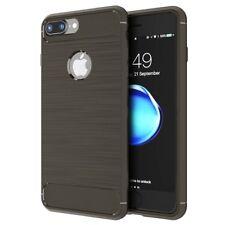 Cubierta Fibra de Carbono Silicón Funda para Apple iPhone X 8 7 6s 6 Plus 5s SE