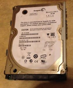Playstation 3 PS3 Seagate 80gb Replacement Internal Hard Drive momentus 5400.3