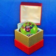 Pier 1 Imports - 2014 - Li Bien Christmas Ornament - Owls with Gifts - NEW