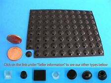 "80 Self Adhesive Rubber Bumper Stops Leg Feet Pad Non Slip .31"" x .08"" USA Made"