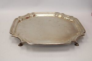 Vintage WB SHEFFIELD HALLMARKED SILVER Serving Tray Dated 1949 - S65