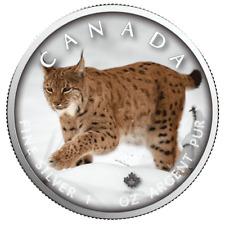 Kanada - 5 Dollar 2019 - Maple Leaf - Wildlife (8.) - Luchs - 1 Oz Silber ST