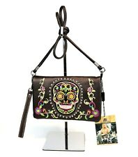 Montana West 3 in 1 Purse Clutch Sugar Skull Country Embroidery Crossbody Bag