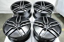 "20"" Staggered Wheels Mercedes ML550 S550 GLK350 C280 C350 VW Tiguan Black Rims"