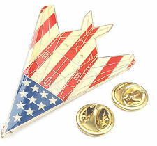 F-117 Stealth Stars and Stripes Plane View Lapel Pin Badge