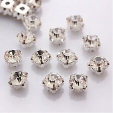 100x mixed white silver gold plated bracelet crystal spacer beads material Hot