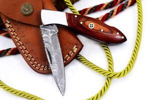 MH KNIVES RARE CUSTOM DAMASCUS STEEL FOLDING/POCKET KNIFE BACK LINER LOCK MH-43