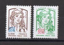 """FRANCE:SERIE DE 2 T MARIANNE DE CIAPPA ET KAWENA SURCHARGE """"PARIS-PHILA""""  NEUF**"""