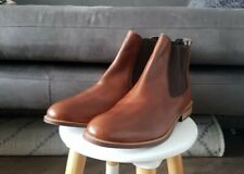 Mens DUNE Tan Brown Leather Chelsea Boots, Size 10, NEW, RRP £100