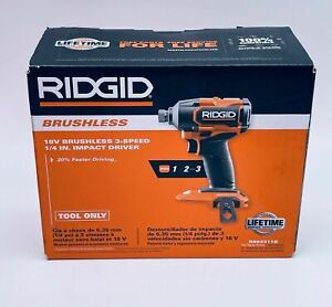 Ridgid MAX OUTPUT R862311 18-Volt Compact Impact Driver 3 Speed  1 Day Ship