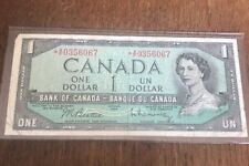 Bank Of Canada 1954 $1 One Dollar Bill Replacement Note Circulated * A/F C124