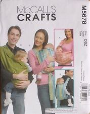 BABY/INFANT CARRIER McCalls Sewing Pattern 5678 NEW Three Sizes