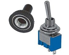 1 PC - SPST (ON/OFF) MINI TOGGLE SWITCH 6AMPS @ 125V RUBBER COVER #MTG1/66-5000
