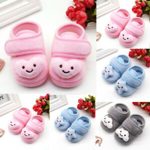 Infant Newborn Baby Girls Plush Stars Cloud Winter Boots Soft Sole Warm Shoes T