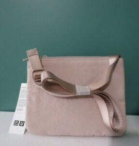 NEW w/ Tag UNIQLO U Women Padded Mini Shoulder Bag - 100% Nylon Shell - NATURAL