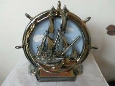 VINTAGE RARE SHIP BOAT CAST IRON FIREPLACE TOOL HOLDER STAND NO TOOLS DOOR STOP