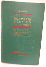 Libro Dizionario Tecnico italiano-inglese Technical Dictionary english-italian M