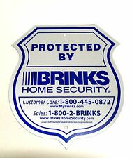 1 SIGN BRINKS SECURITY HOME ALARM SIGN REFLECTIVE NO POST