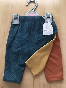 TU Baby Boys  Bundle,Leggings ,trousers,Up To 1 Month, Tractor,veg,lot,set,New!