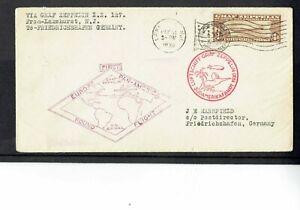 V283 USA 1930 Graf Zeppelin May 31 Lakehurst $1.30 Air Cover VGC