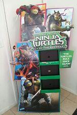 TEENAGE MUTANT NINJA TURTLES 2 MOVIE DVD Standee DISPLAY Auction Finds 702