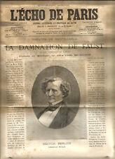 L'echo de Paris 1893. Supplément artistique Faust. 16 pages.
