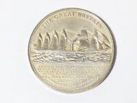 S.S. GREAT BRITAIN Steamship Commemorative Bristol Silver Medal 32g Cased #1658