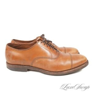 Allen Edmonds Port Washington Saddle Tan 5956 Captoe Leather Shoes USA Made 9 D