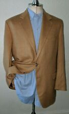 42R Camel PURE CASHMERE Plush Tan Tweed Sport Coat Blazer Jacket