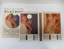 Lot (2) Vintage 1961 & 1963 Playboy Playmate Wall Calendars Pin-Up yz5489