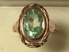 antiker Rotgold-Ring mit funkelndem Stein - 333 - RG 65 - 4,5 g