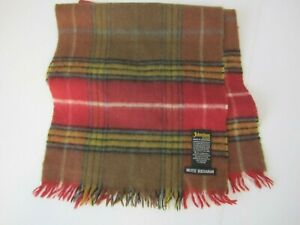 Johnston's of Elgin Muted Buchanan Tartan Plaid Cashmere Blend Scarf  Scotland