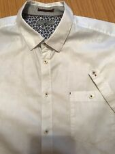 Ted Baker Shirt 5 White 46 Inch Chest Check VGC