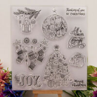 Silicone Clear Stamp Transparent Rubber Stamps DIY Scrapbook Christmas Q9Q
