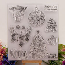Silicone Clear Stamp Transparent Rubber Stamps DIY Scrapbook Christmas giftEP