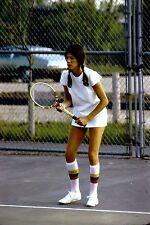 35mm Slide Pretty Woman Playing Tennis Serious Cool Socks May 1973