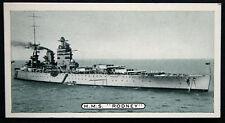 HMS RODNEY    Royal Navy Battleship  Original B/W Photo Card    VGC