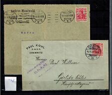 Deutsches Reich 2 Briefe echt gelaufen  mit Germania   int.Nr. 1178