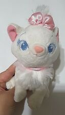 """Disney store soft plush marie pink bow 6"""" inch"""